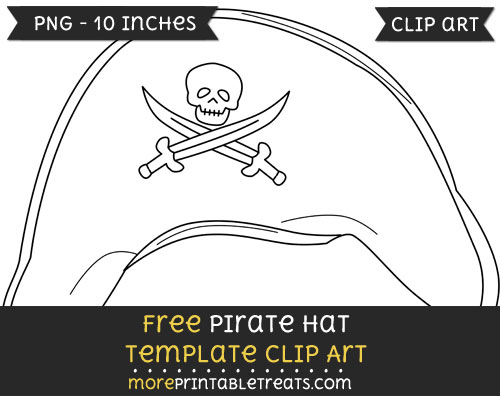 Free Pirate Hat Template - Clipart