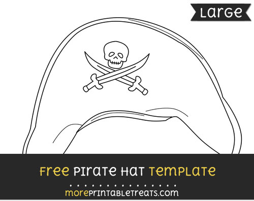 Free Pirate Hat Template - Large