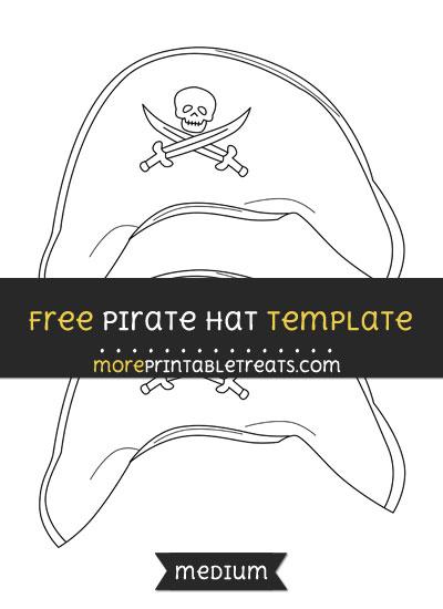 Free Pirate Hat Template - Medium