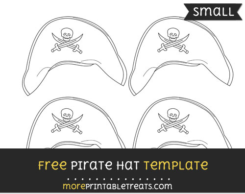 Free Pirate Hat Template - Small