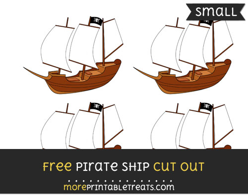 Free Pirate Ship Cut Out - Small Size Printable