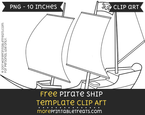 Free Pirate Ship Template - Clipart