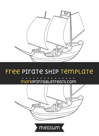 Free Pirate Ship Template - Medium