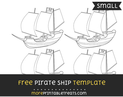 Free Pirate Ship Template - Small