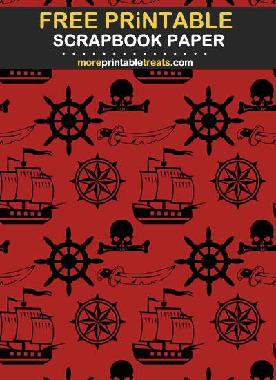 Free Printable Pirate Theme Scrapbook Paper