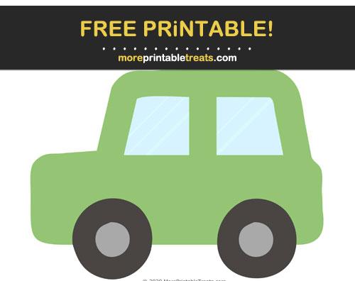 Free Printable Pistachio Green Car Cut Out