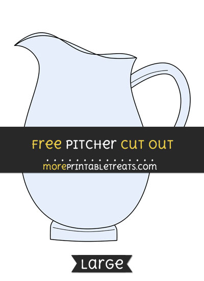 Free Pitcher Cut Out - Large size printable