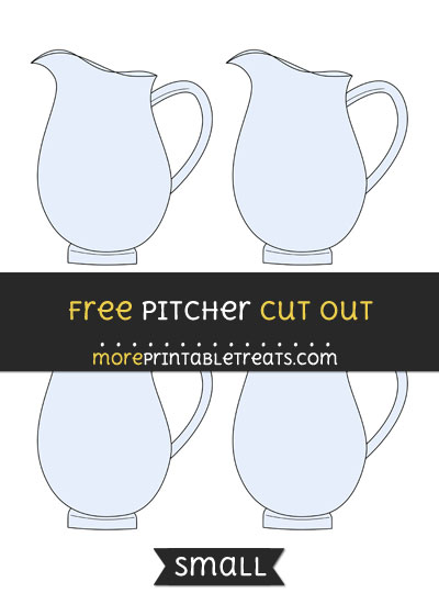 Free Pitcher Cut Out - Small Size Printable