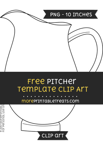Free Pitcher Template - Clipart