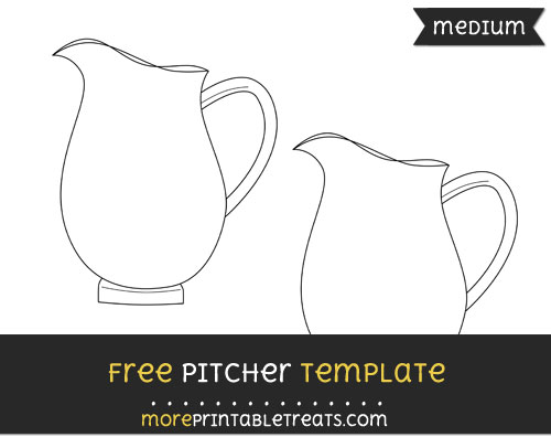 Free Pitcher Template - Medium
