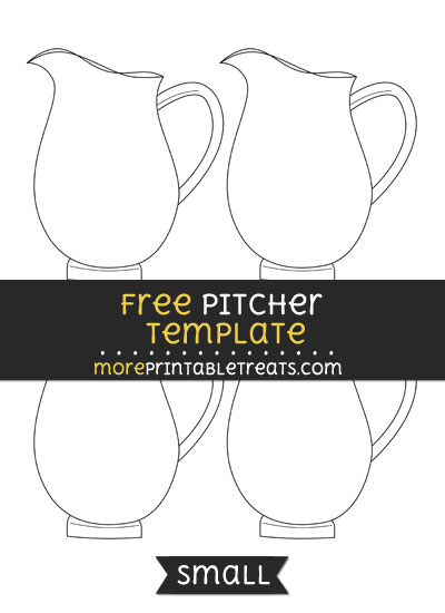 Free Pitcher Template - Small