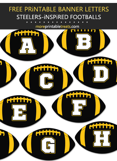 Free Printable Pittsburgh Steelers-Inspired Football Alphabet