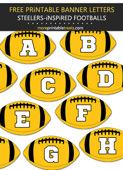 Free Printable Pittsburgh Steelers-Inspired Football Bunting Banner