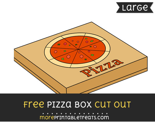 Free Pizza Box Cut Out - Large size printable