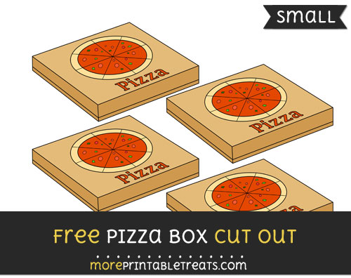 Free Pizza Box Cut Out - Small Size Printable