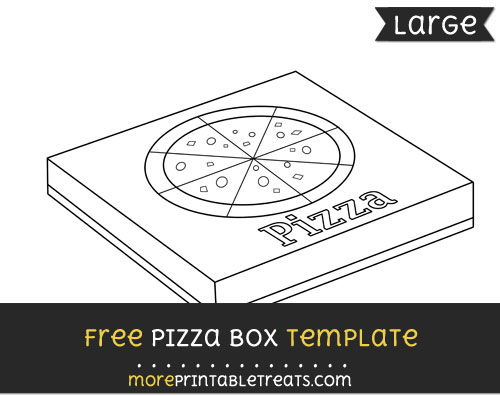 Free Pizza Box Template - Large
