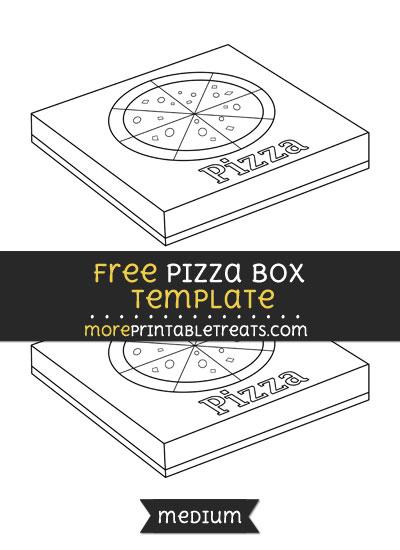 Free Pizza Box Template - Medium