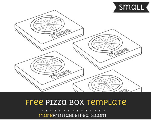 Free Pizza Box Template - Small