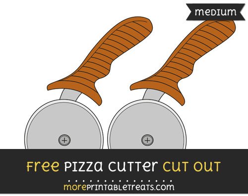 Free Pizza Cutter Cut Out - Medium Size Printable
