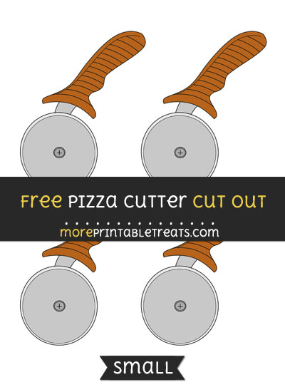 Free Pizza Cutter Cut Out - Small Size Printable