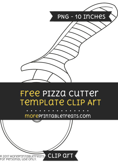 Free Pizza Cutter Template - Clipart