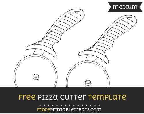 Free Pizza Cutter Template - Medium