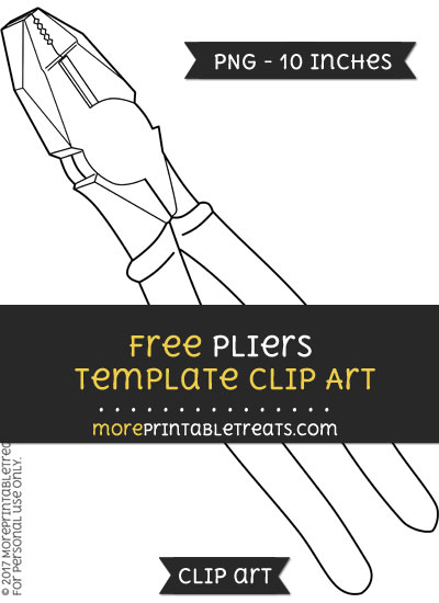 Free Pliers Template - Clipart