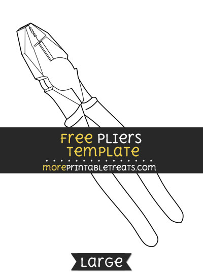 Free Pliers Template - Large
