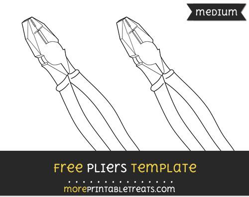 Free Pliers Template - Medium