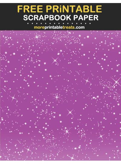 Free Printable Plum Purple Sparkles Scrapbook Paper