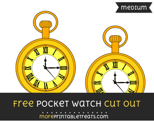 Free Pocket Watch Cut Out - Medium Size Printable