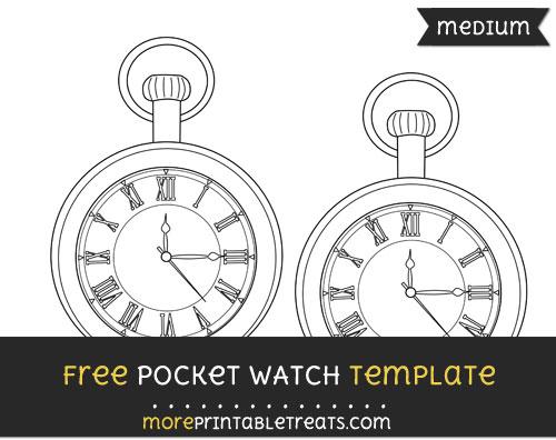 Free Pocket Watch Template - Medium