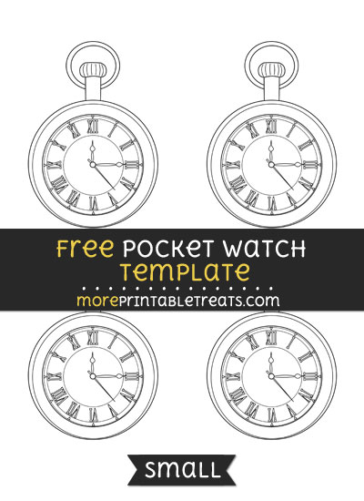 Free Pocket Watch Template - Small