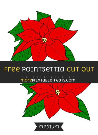 Free Pointsettia Cut Out - Medium Size Printable