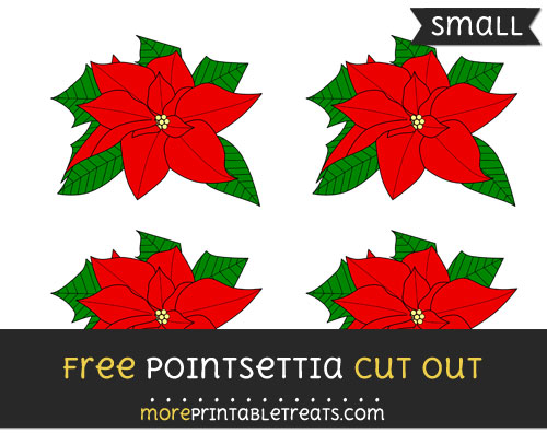 Free Pointsettia Cut Out - Small Size Printable