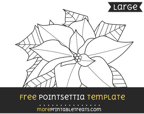 Free Pointsettia Template - Large