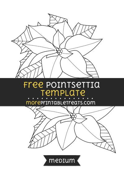 Free Pointsettia Template - Medium