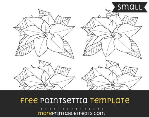 Free Pointsettia Template - Small