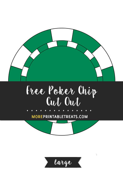 Free Poker Chip Cut Out - Large