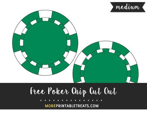 Free Poker Chip Cut Out - Medium