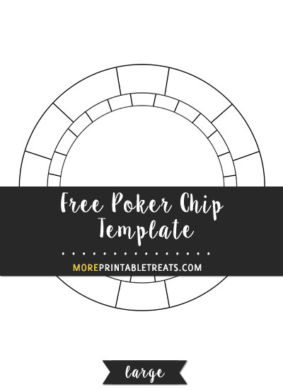 Free Poker Chip Template - Large