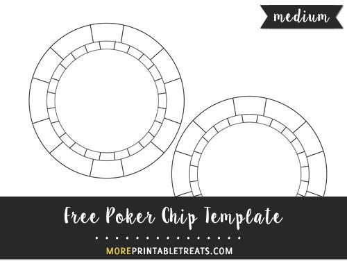 Free Poker Chip Template - Medium Size