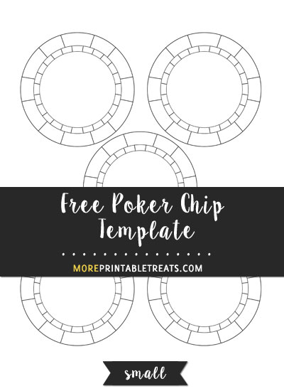 Free Poker Chip Template - Small Size