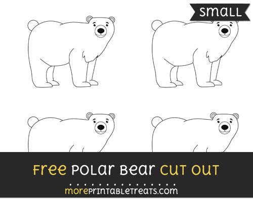 Free Polar Bear Cut Out - Small Size Printable