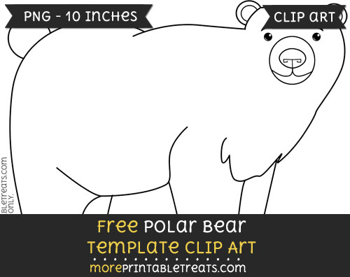 Free Polar Bear Template - Clipart