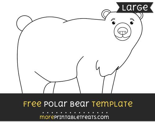 Free Polar Bear Template - Large