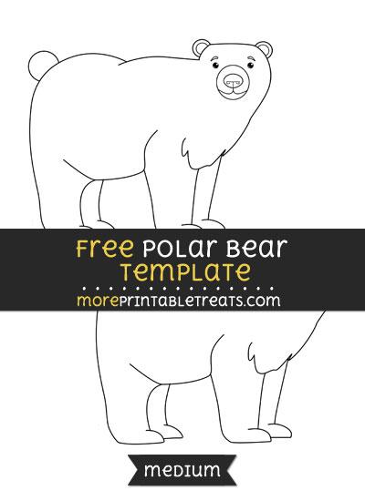 Free Polar Bear Template - Medium