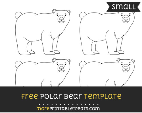 Free Polar Bear Template - Small