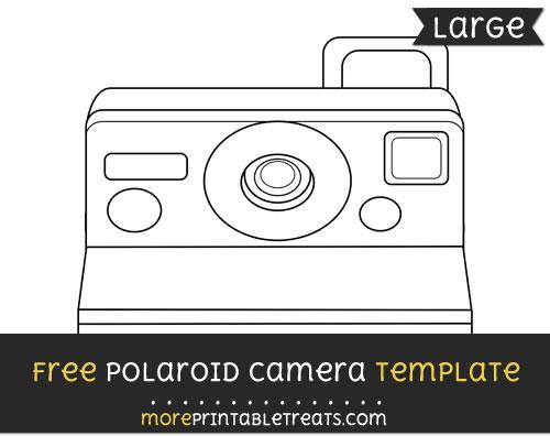 Free Polaroid Camera Template - Large