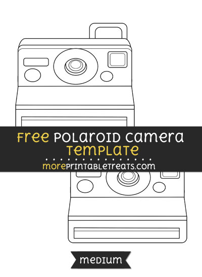 Free Polaroid Camera Template - Medium